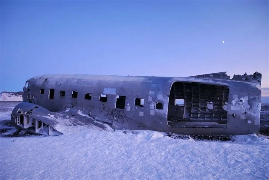 Playa, avión abandonado de Islandia