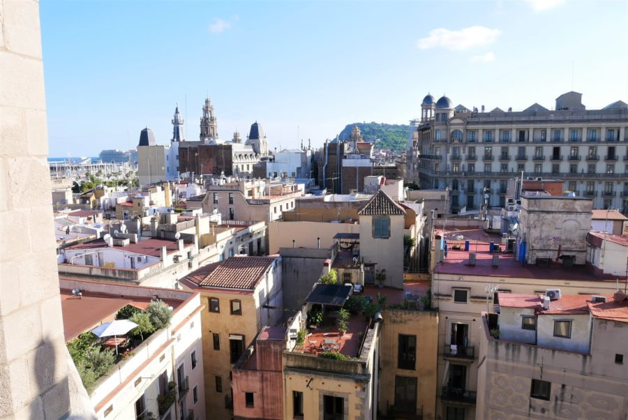 Vistas desde las terrazas de Santa María del Mar