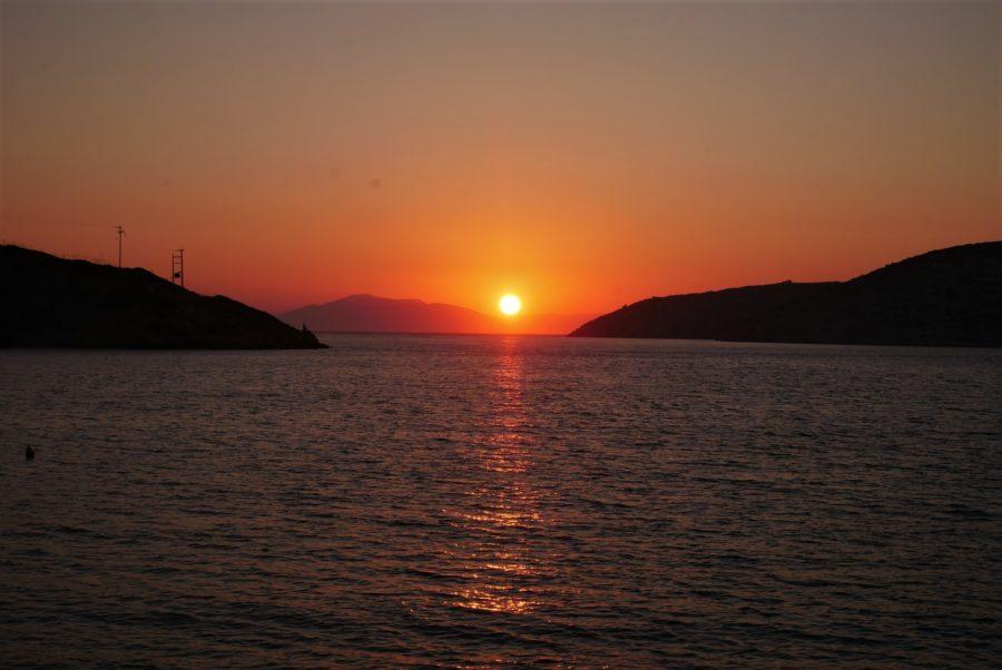 Atardecer en el Egeo en Amorgos