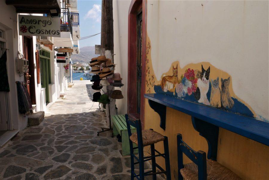 Calles de Katapola en Amorgos