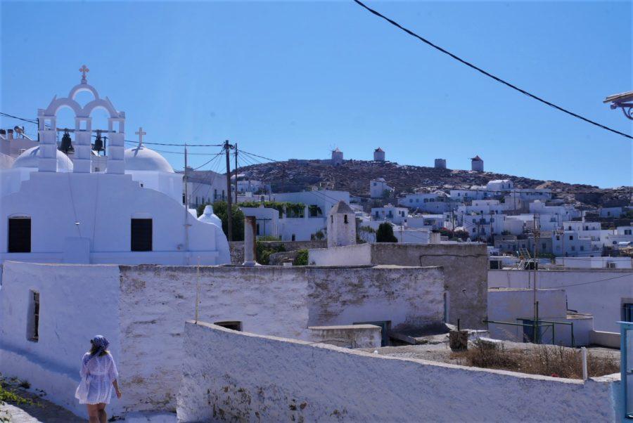 Chora, capital de la isla de Amorgos