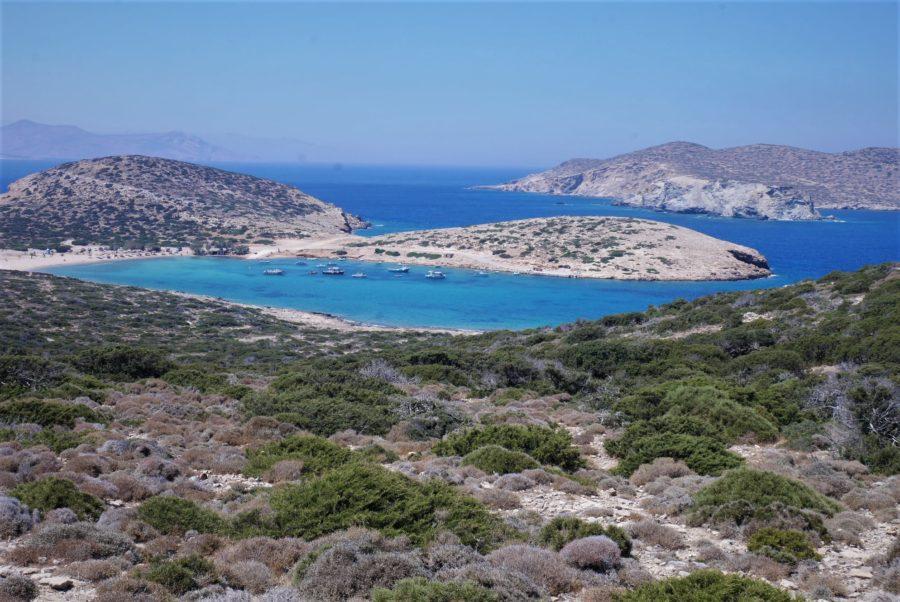 El final de la isla de Amorgos