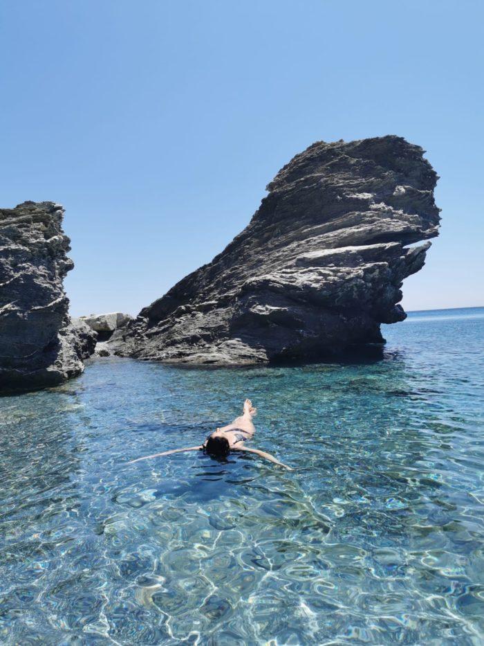Un baño en Mouros, playas de Amorgos