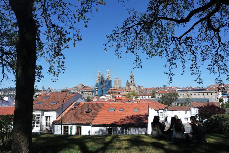 Vistas de la catedral de Santiago de Compostela