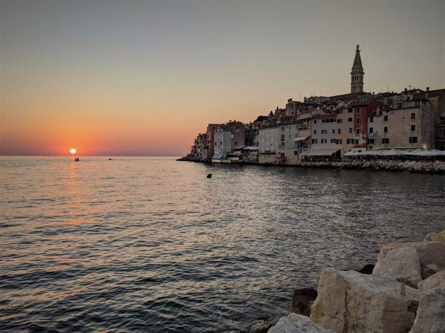 Atardecer en Rovinj, qué ver en Croacia en 15 días