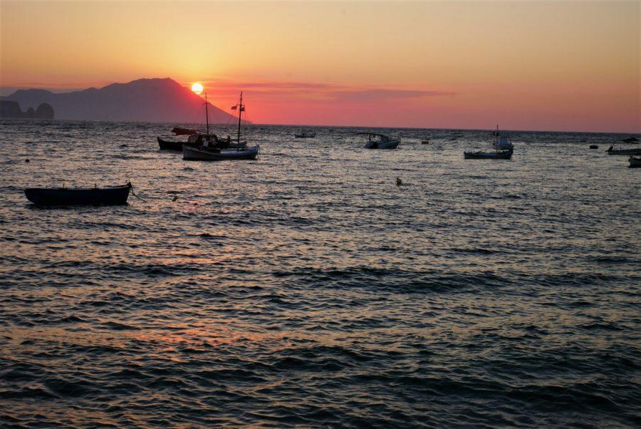 Atardecer en las islas griegas, Milos