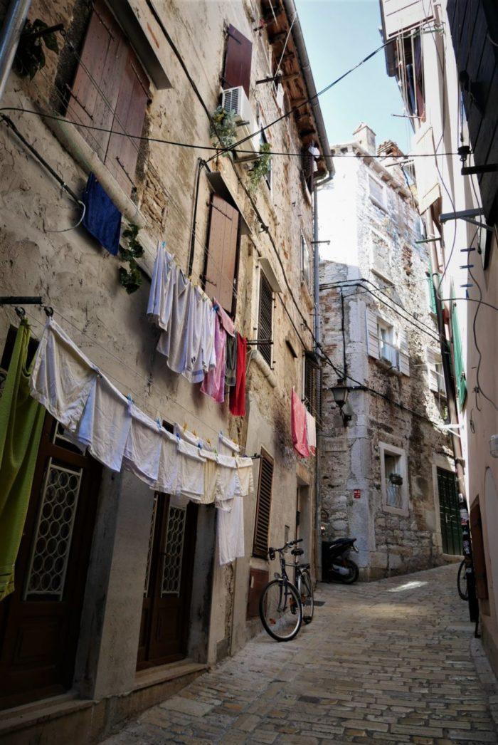 Calles de Rovinj, qué ver en Croacia en 15 días