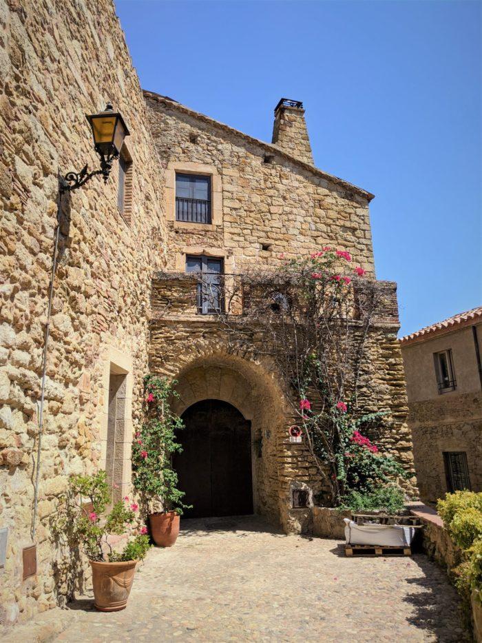 Casas típicas en Pals Girona
