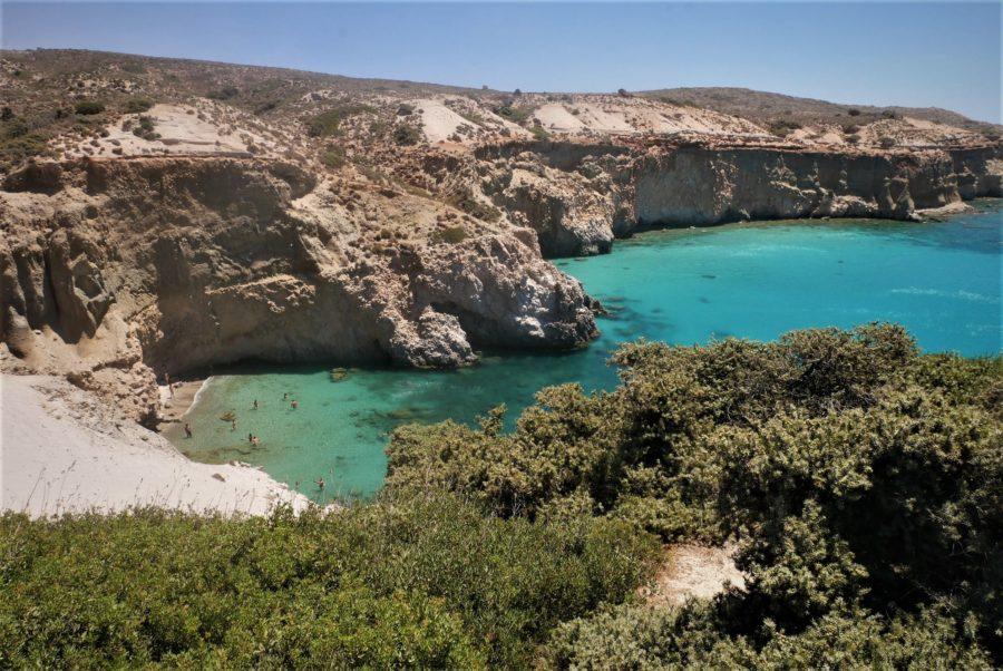 Playa de Tsigrado, Milos Grecia