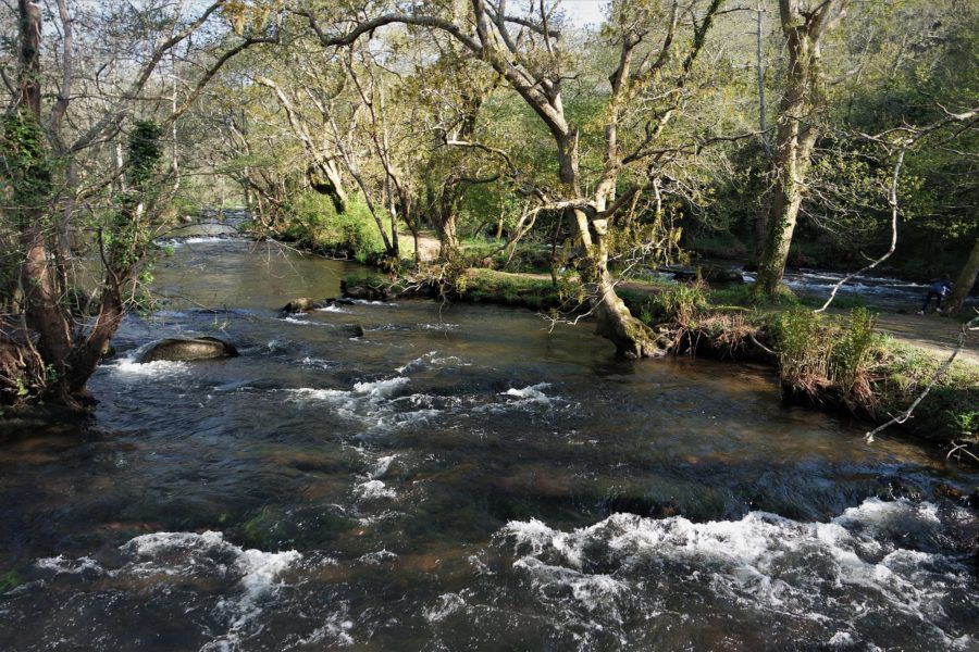 Paisaje del río Anllóns, Galicia