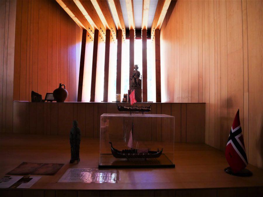 Interior de la ermita de San Olav en Covarrubias