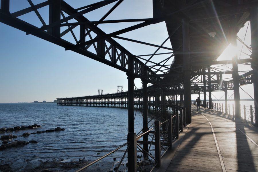 Muelle sobre el río Odiel