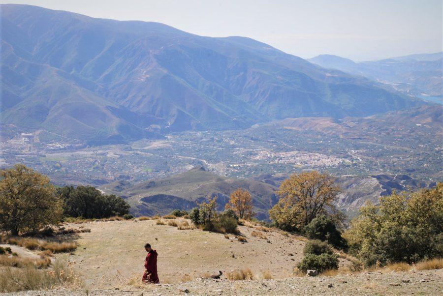 Paisaje Alpujarra granadina otoño