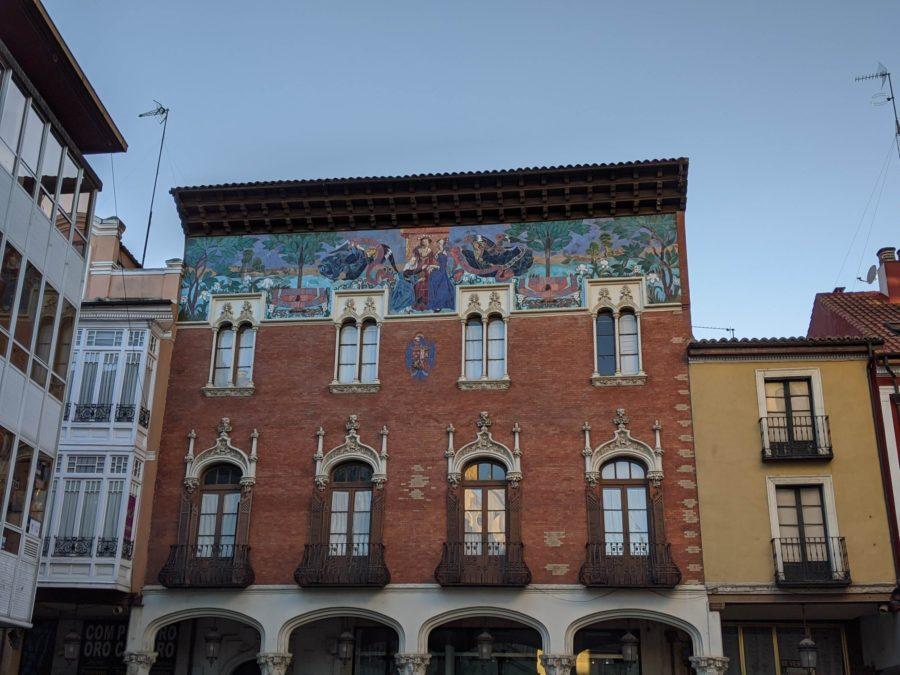 Casa de estilo veneciano en la calle Mayor de Palencia