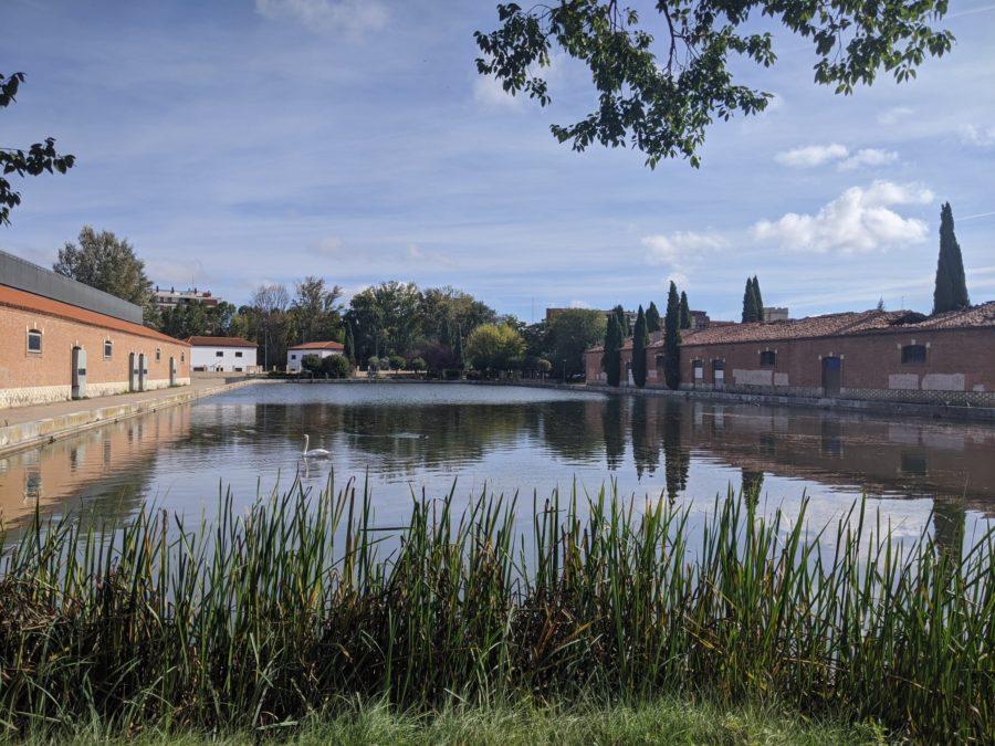 Dársena del Canal de Castilla en Palencia
