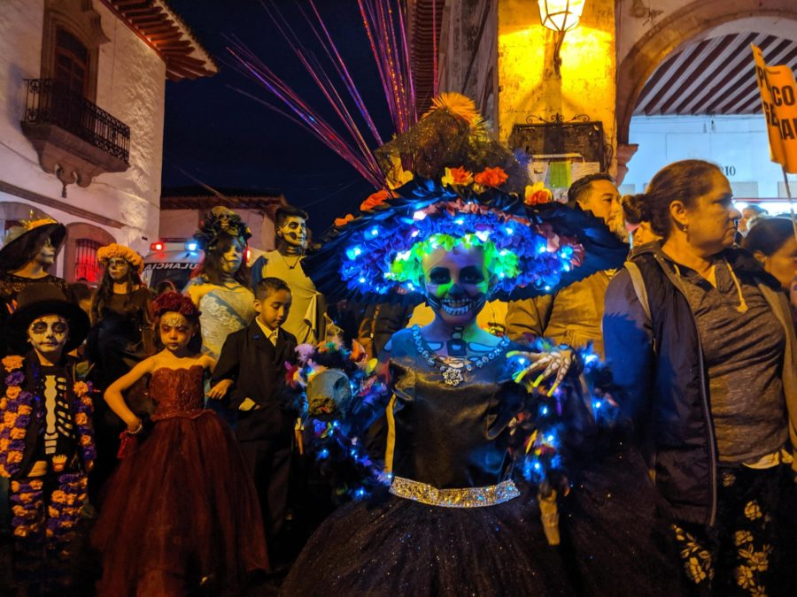 Desfile de catrinas en Patzcuaro