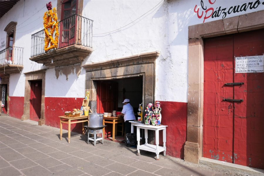 Las calles de Pátzcuaro, Michoacán