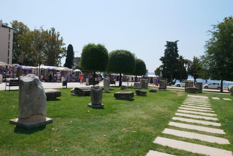 Restos romanos en el foro, qué ver en Zadar, Croacia