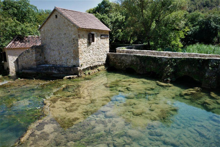 Antiguos molinos en el Parque Nacional de Krka