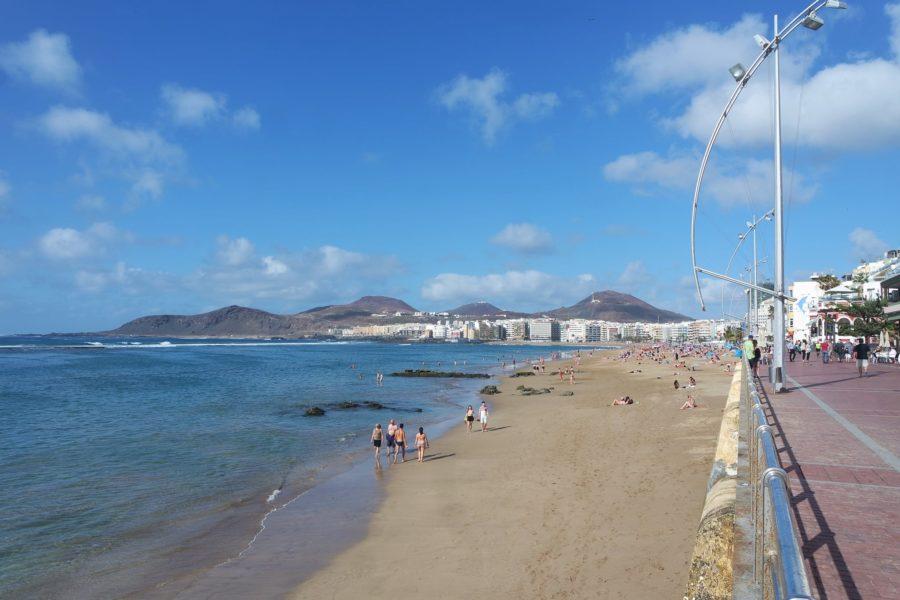 La playa de las Canteras, Las Palmas de Gran Canaria