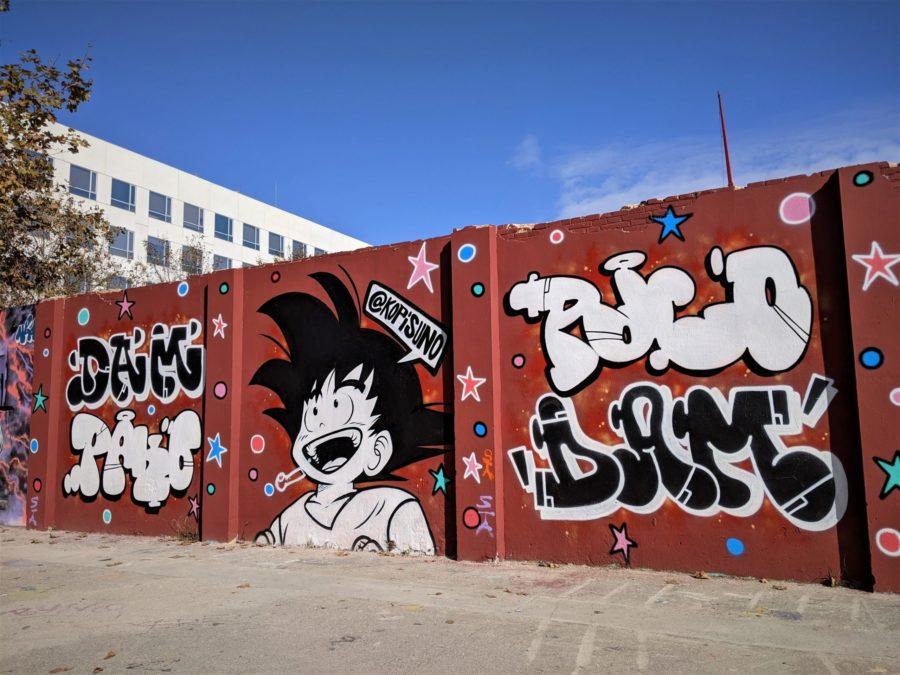 Mural de Goku