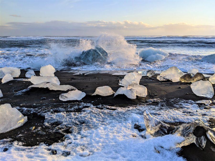 Playa de los Diamantes, sur de Islandia