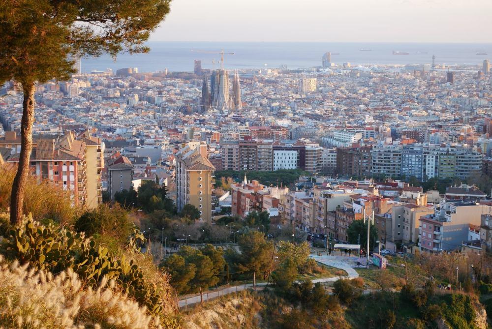 Barcelona desde el Parque del Guinardó