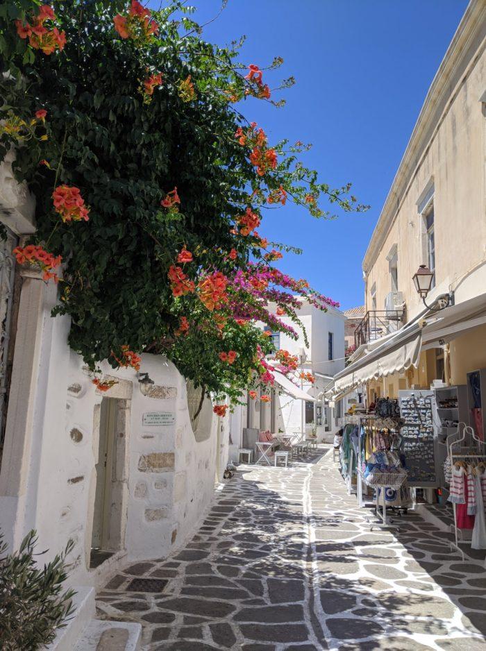 Calles del centro de Parikia