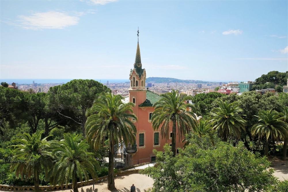 Casa museo de Gaudí en el parque Güell, Barcelona
