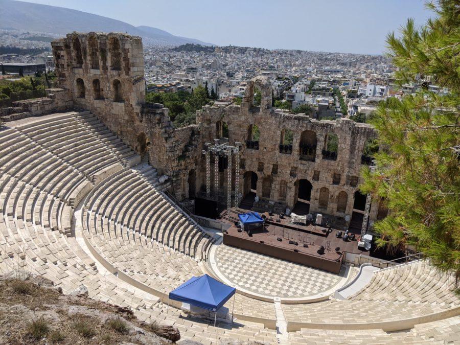 El Teatro de Dioniso, la Acrópolis de Atenas