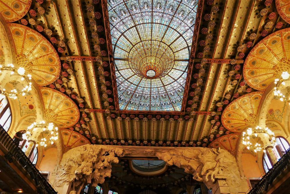Techo del Palau de la Música Catalana