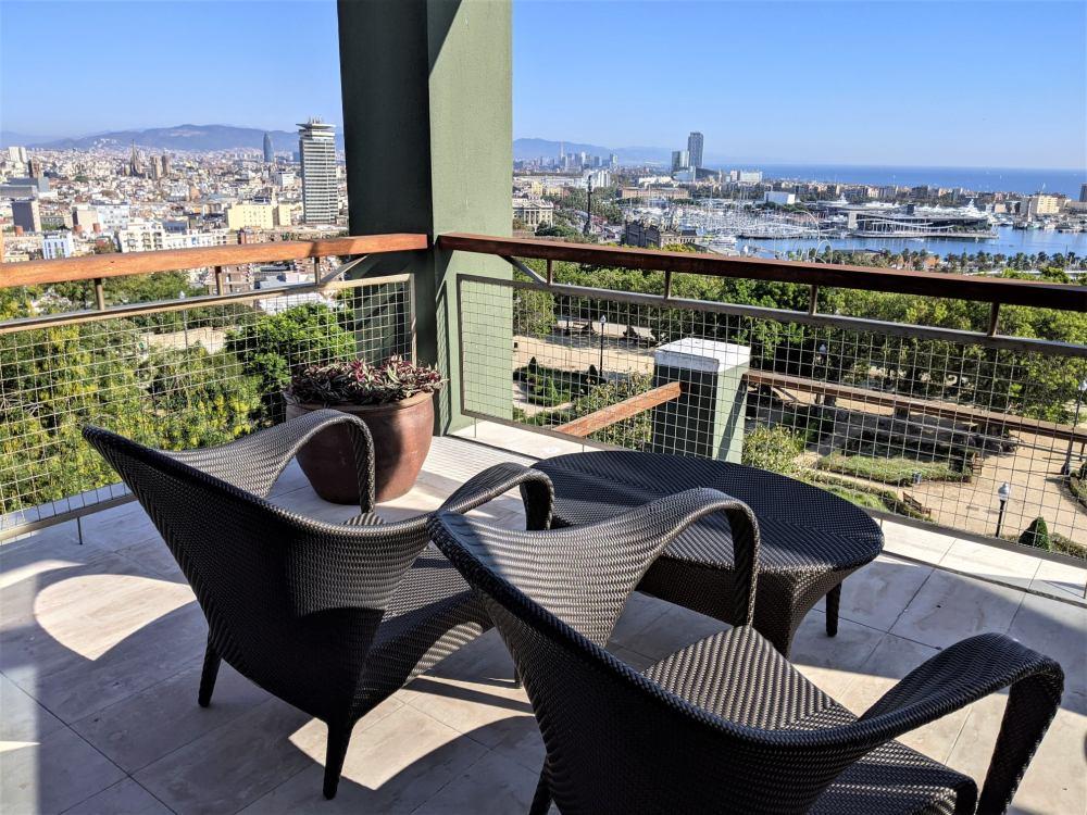 Terraza del hotel Miramar