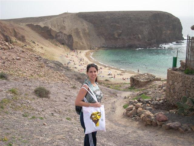 De camino a la playa del Papagayo