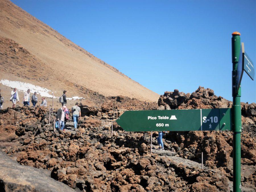 Sendero 10, subida al Teide a pie, Tenerife