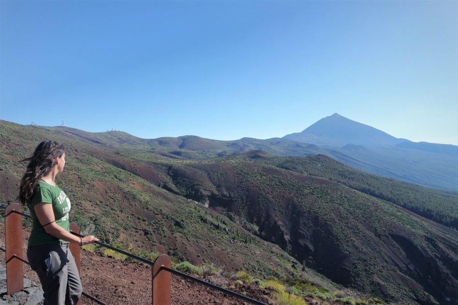 Vistas al Teide desde el mirador