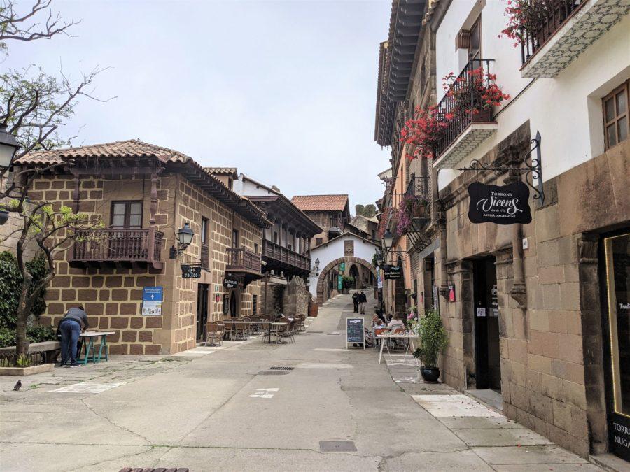 Calle de los caseríos vascos