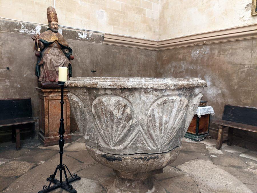 La pila bautismal de Dueñas