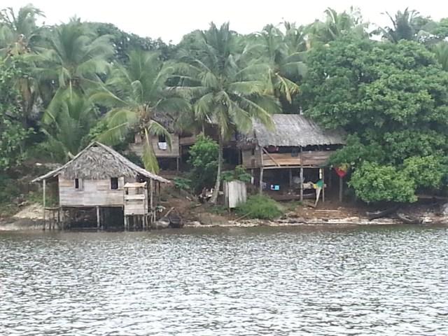 Vista de la pequeña isla de Rama Cay, ubicada a veinte minutos de Bluefields. Foto | Sergio León | La Costeñísima