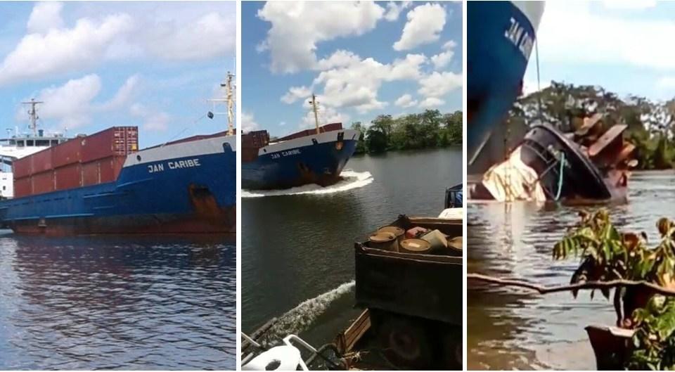 Colisión de barcos