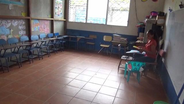 Aula de clases vacía