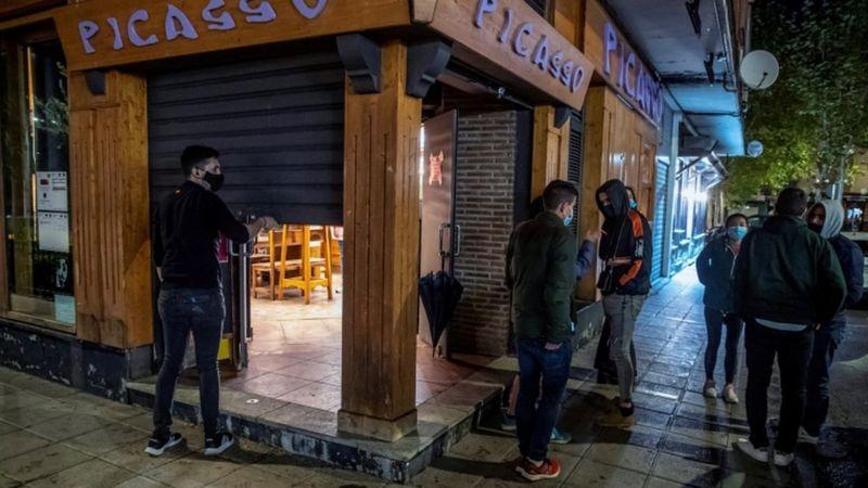 Toque de queda nocturno en España, como media contra el Covid 19. Foto: BBCNEWS/Cortesía