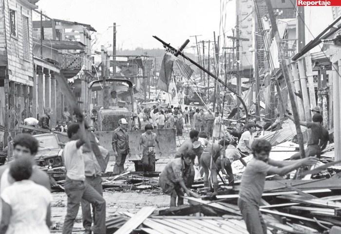 Bluefields después de ser impactada por Huracán Joan
