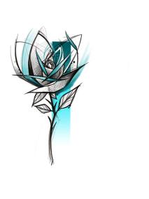 Flash rose graphique fait Loreen
