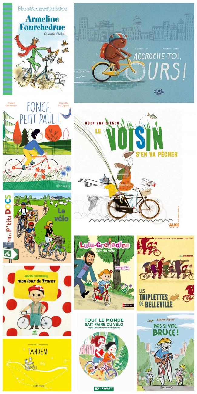 vélo, tour de france, albums jeunesse, triplettes de belleville, quentin blake