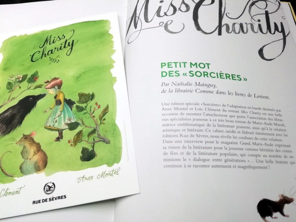 Miss Charity, édition Librairies Sorcières