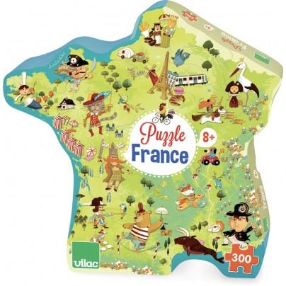 Puzzle Carte de France, 300 pcs, Vilac