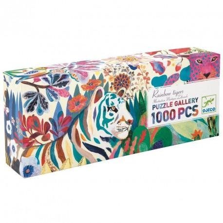 Puzzle Tigre arc-en-ciel, 1000 pcs, Djeco