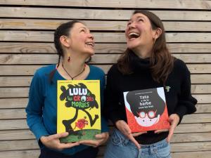 Tata a de la barbe sous les bras, Lulu et les Grosses Morues, deux albums publiés respectivement par les soeurs Morizur aux éditions Goater