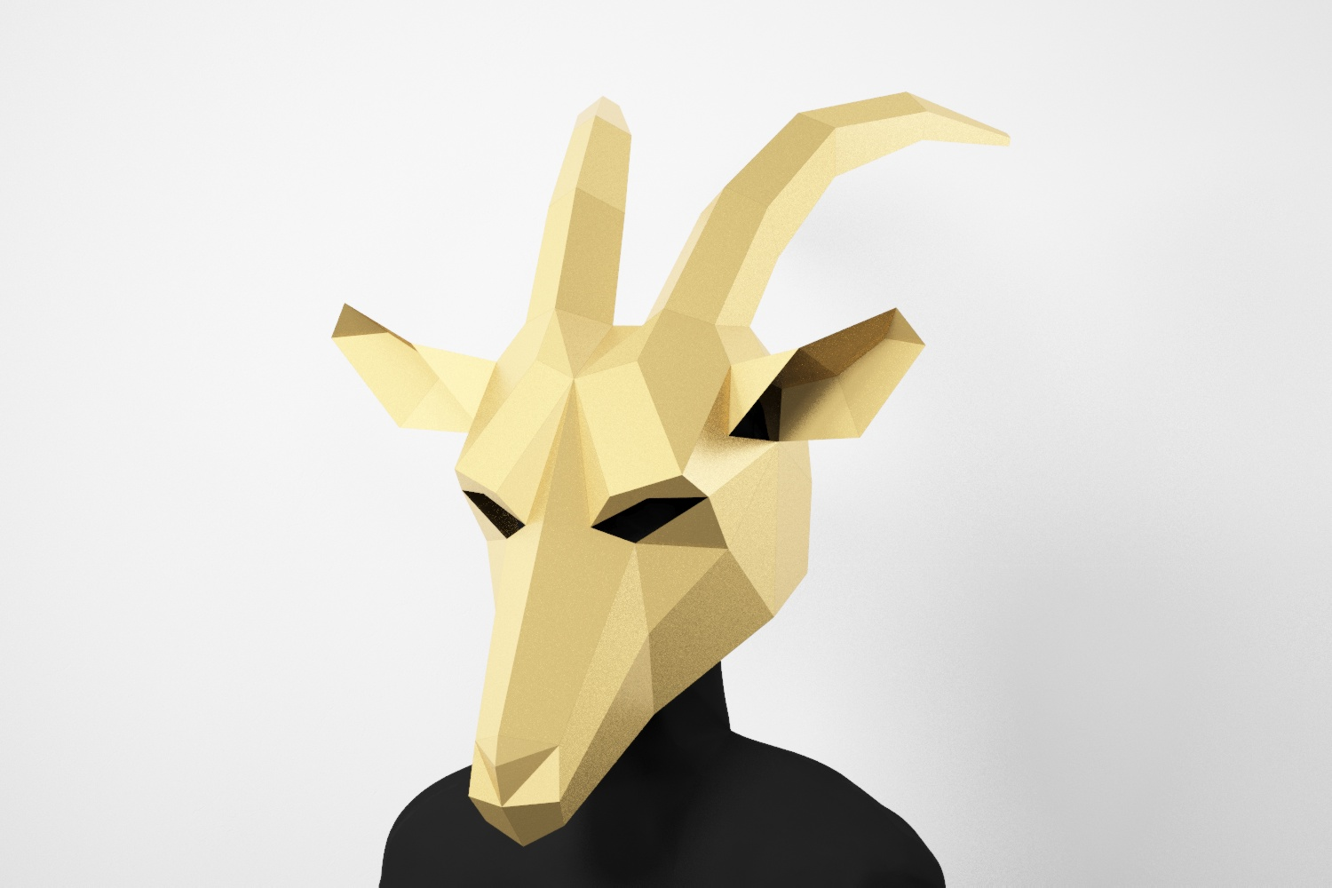 Goat Low Poly Mask Diy Paper Craft Mask Goat