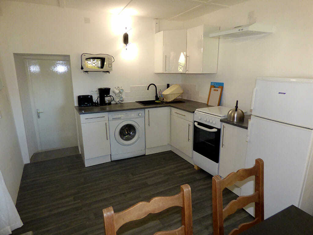 Voltaire's fully equipped kitchen